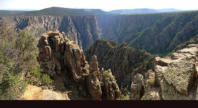 An iPhone panorama of the view back up the canyon to the east from Warner Point.