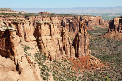 The Kissing Couple stands out at the end of the Grand View Ridge, this time seem from further along the Rim Rock Drive at the Monument Canyon Overlook.