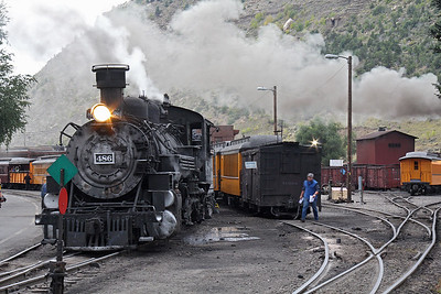 At the station in Durango; this is the train which left about 1/2 hour before ours.