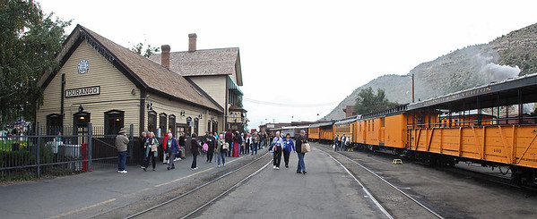The Durango Station with our train lined up and ready for boarding.