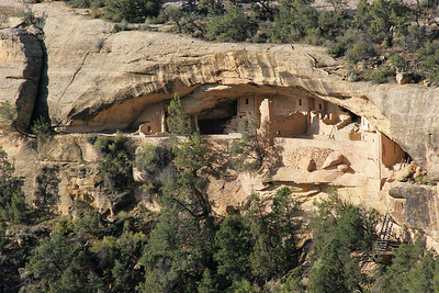 Balcony House, seen from the end of the Soda Point Overlook Trail.  I will later take a ranger-guided tour of this ruin, including some pretty serious scrambling up and down the rock face to get to it.
