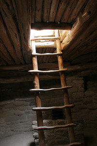 Down the ladder in one of the kivas.