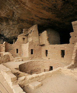 A kiva without the reconstructed roof.
