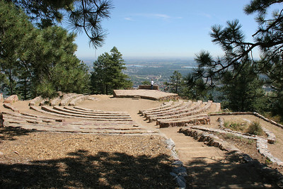 Up in the Flatiron Range with a view over Boulder, Colorado, the Sunrise Amphitheater was built by the Conservation Corps in the 1930s.
