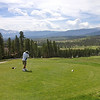 """<span style=""""color:yellow;"""">Dan and I played golf at nearby Pole Creek Golf Club.  The highest Tee-Box was just above 8,000 feet in altitude.  Grand views out over the high Rockies.  </span>"""