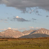 """<span style=""""color:yellow;"""">Late light on the peaks seen from the Devlin's back deck.  </span>"""