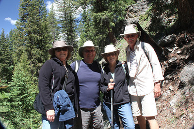 On our hike around Monarch Lake.