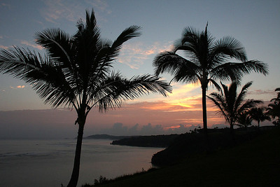 Sunrise, Day 5;   The Sealodge, Princeville, Kauai, Hawaii.