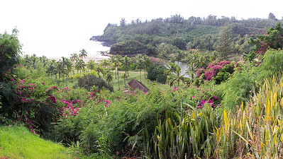 Lawa'i Bay at the Allerton Garden.  A popular site for shooting movies, such as South Pacific.
