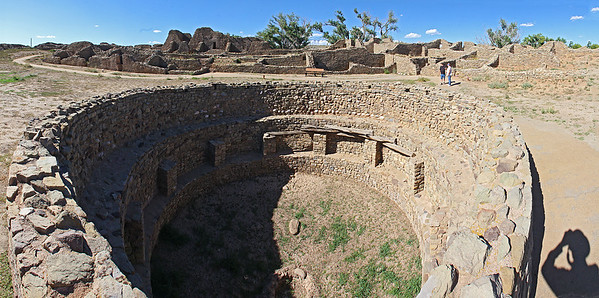 Looking down into the large central kiva.