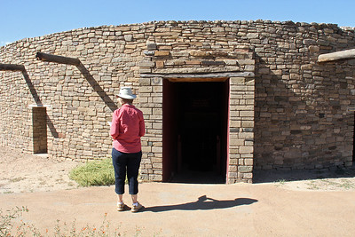 Ready to enter the reconstructed Great Kiva.