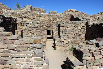 Much of the pueblo was originally 3 stories high.