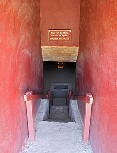 Entering the reconstructed Great Kiva.