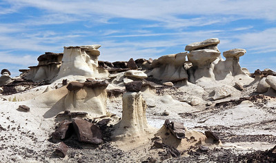 "Now we encounter our first area of hoodoos.   According to the dictionary, a hoodoo is ""a natural column of rock in western North America, often in fantastic form""."