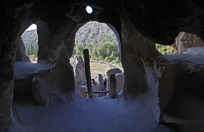 A 3-image panorama from inside ...
