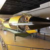"""<span style=""""color:yellow;""""> One of the original V2 Rockets seized from Germany after the war.  It was studied heavily by American rocket scientists in order to catch up to the then-state-of-the-art knowledge of the Germans.  And, of course, here it has been refurbished for display.  </span>"""
