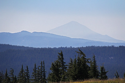 On this clear day we can see Mt. Shasta in California, approximately 100 miles to the south.