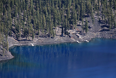 Another telephoto capture of the shores of Wizard Island, this one from Discovery Point.