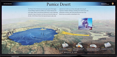 The Pumice Desert (visible in the next slide) was created over 7,000 years ago and still exists today.