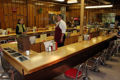 The snack bar in the basement of the lodge had a very strong 1950s-Diner feel to its appearance and food!