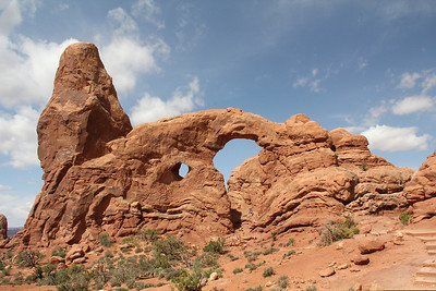 Turret Arch.  For scale, find the people on the rock below the larger arch.