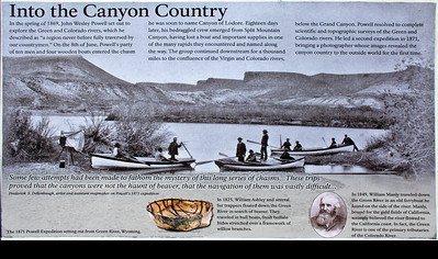 In 1869, the renowned explorer of the American west, John Wesley Powell, navigated the Green River through what is now Dinosaur National Monument.