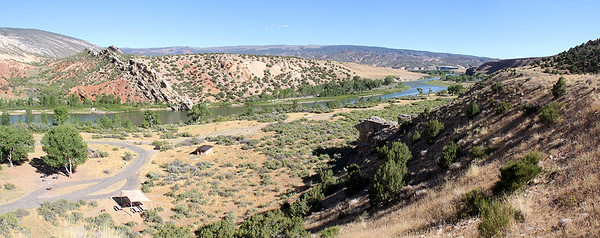 For the rest of the first afternoon we explored around the Green River, including this view from our campground.