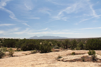 To the east of Hovenweep lies Piute Mountain in Colorado.  I always thought it looked like a sleeping Indian!