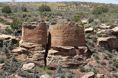 Twin Towers.  The Ancestral Puebloans abandoned all these ruins about 700 years ago, probably due to extended drought in the area.