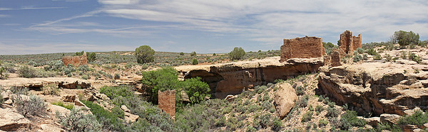 L-R : Hovenweep House, Square Tower Ruin, and Hovenweep Castle.
