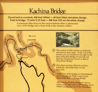The hike to Kachina Bridge is the longest and deepest of the 3 hikes.