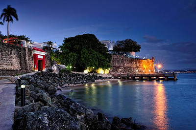 San Juan gate at twilight