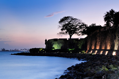 City Wall at Sunset San Juan