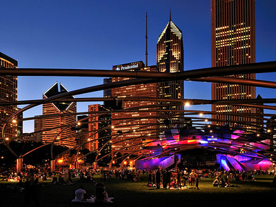 Millennium Park concert at twilight