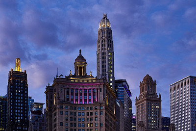 Chicago Skyline at Twilight