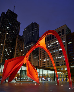 Calder Flamingo at Night