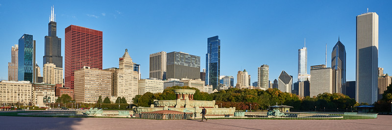 Chicago Skyline from Buckingham Fountain