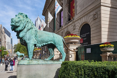 Art Institute of Chicago-Front Entrance with Lions