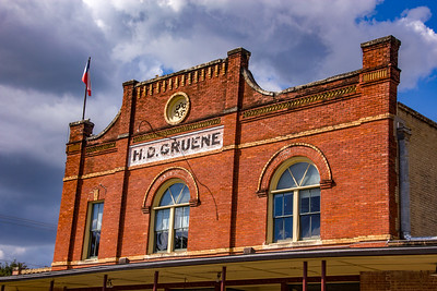 The Gruene name is on many buildings.