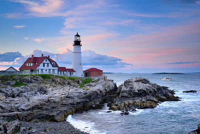 Portland Head Light by twilight