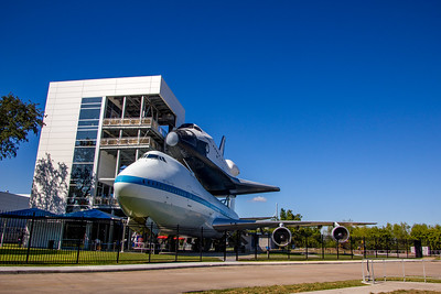 Original shuttle carrier & replica of shuttle