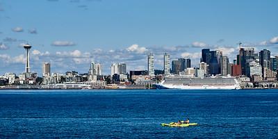 Downtown Seattle from Alki