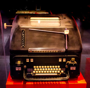 "The ""hot line"" phone to Moscow was actually this teletype machine to send written communications"