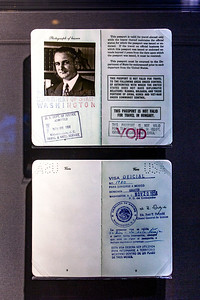 LBJ's passport during his year's in the US Senate