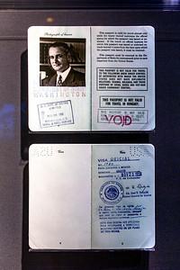 LBJ's passport during his year's in the US Senate