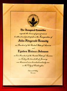 Inauguration invitation - 1961