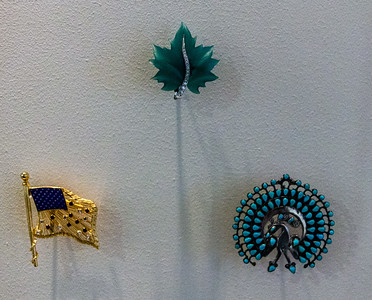 Some of Lady Bird's broches