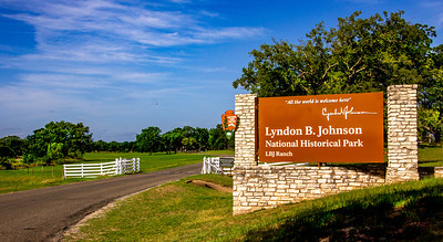 The current entry to the LBJ Ranch