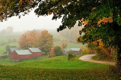 Jenne Farm in Mist