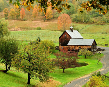 Farm in Autumn--Along Cloudland Rd 1